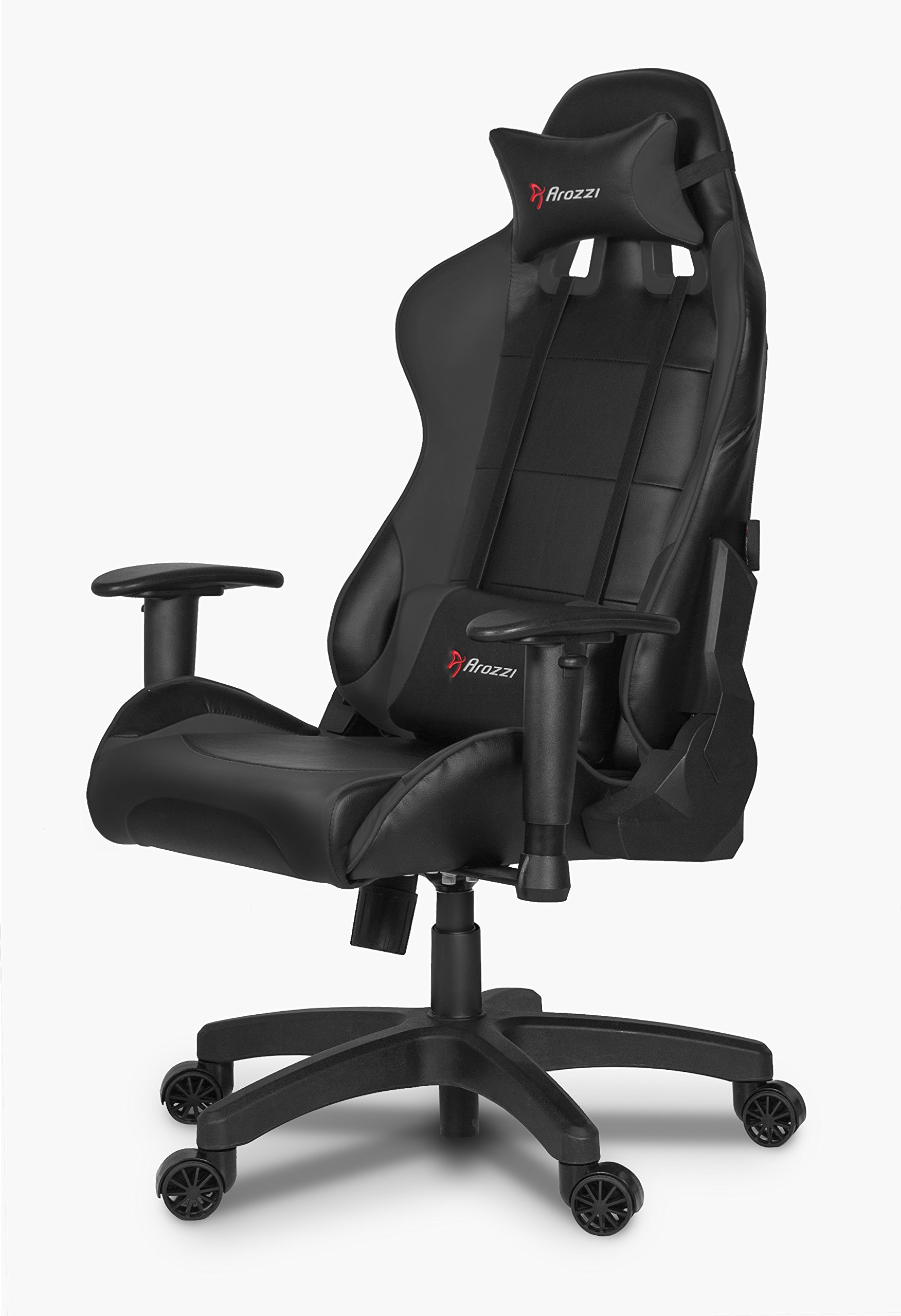 Arozzi Verona Junior Gaming Chair for Kids with High Backrest, Recliner, Swivel, Tilt, Rocker and Seat Height Adjustment, Lumbar and Headrest Pillows Included - Black