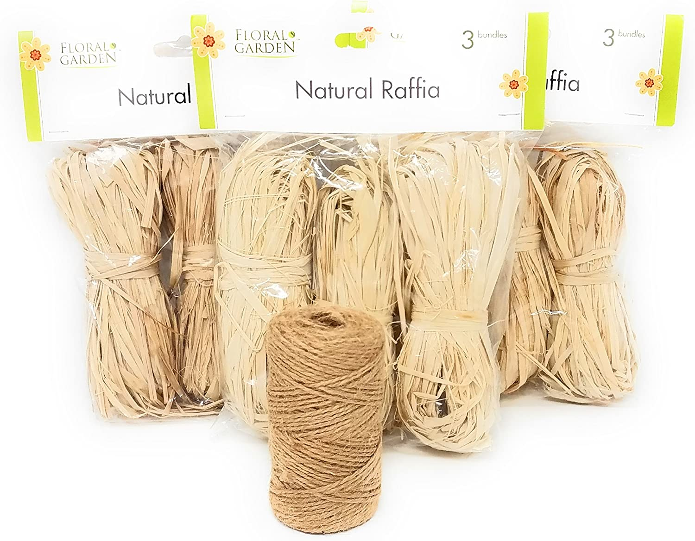 Cinta rafia natural (Pack de 3) con 175 de yute Twine: Amazon.es ...
