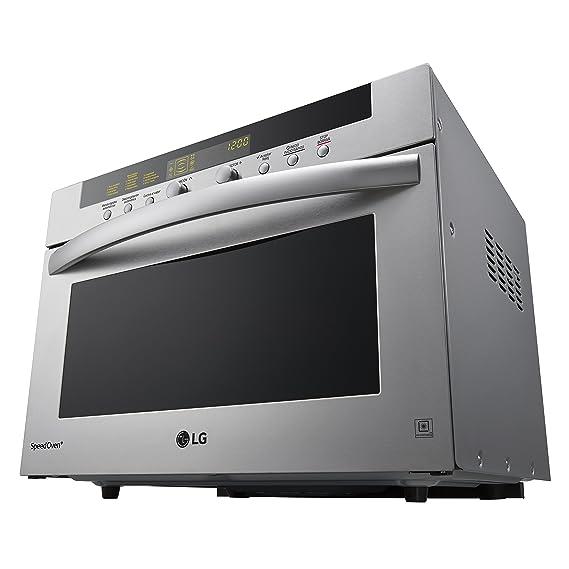 LG MA3884VCT - Microondas 4 en 1, convección máxima 2.800 W, grill 1600 W, microondas 900 W y 38 l de capacidad, acero inoxidable: Amazon.es: Hogar