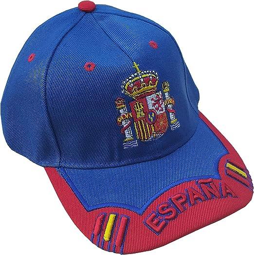 LGP - Gorra Escudo DE ESPAÑA Mod.12 Azul Electrico y Rojo: Amazon ...