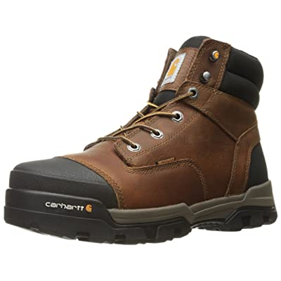 "Carhartt Men's 6"" Energy Brown Waterproof Soft Toe CME6055 Industrial Boot: Shoes"