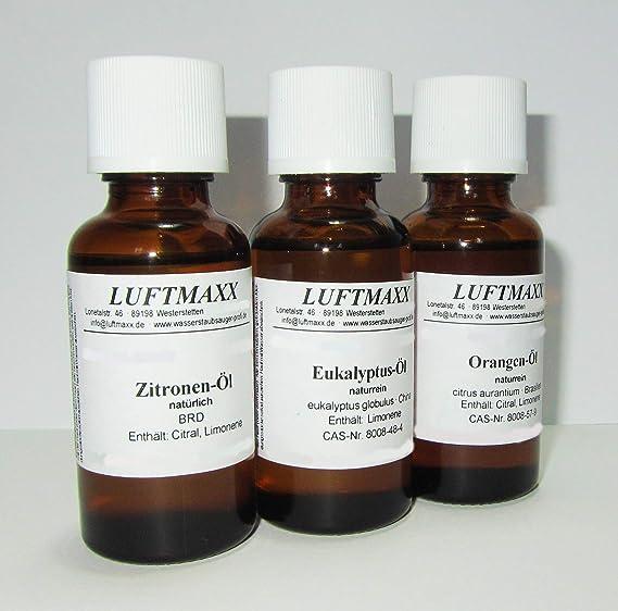 Juego de 3 aire Maxx aceite aromático Limón Naranja eucalipto por ...