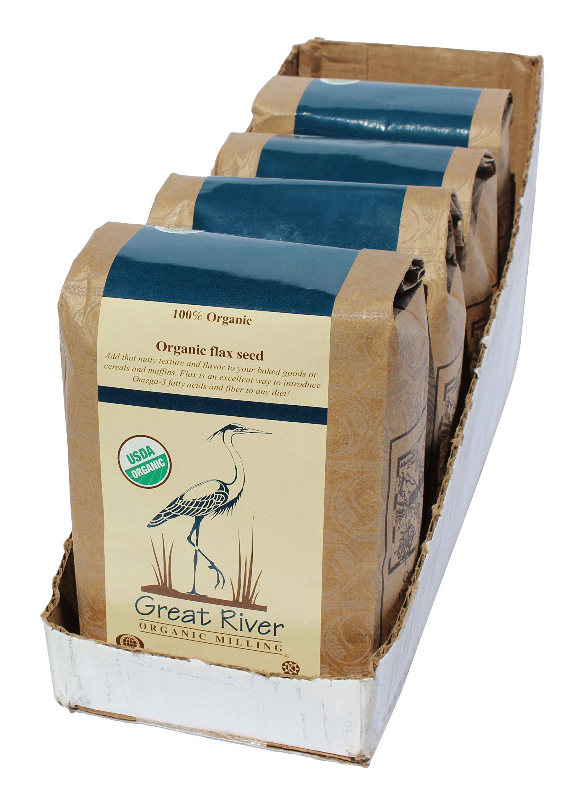 Great River Organic Milling Organic Flax Seed, 2 Pound by Great River Organic Milling (Image #1)