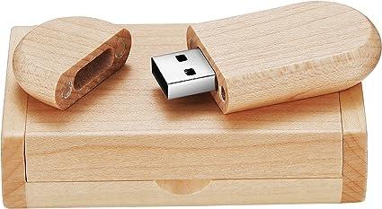Leaders 8.0 GB Rotación Maciza Memoria USB Almacenamiento de Datos Flash USB 2.0 Memory Stick Pendrive con Caja de Madera: Amazon.es: Electrónica