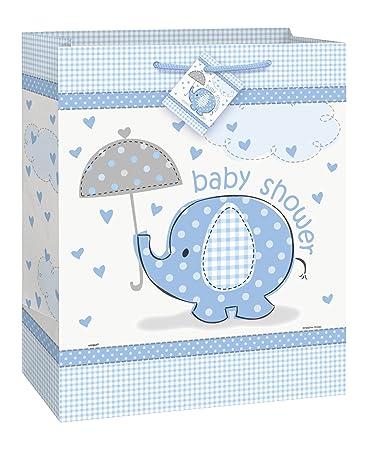 Blue Elephant Boy Baby Shower Gift Bag