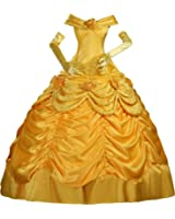 Cosrea Cosplay Beauty And Beast Princess Belle Disney Park Classic Satin Cosplay Costume Custom Sizing