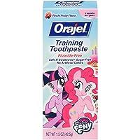 Orajel My Little Pony Fluoride-Free Training Toothpaste, Pinkie Fruity, 1.5 oz.