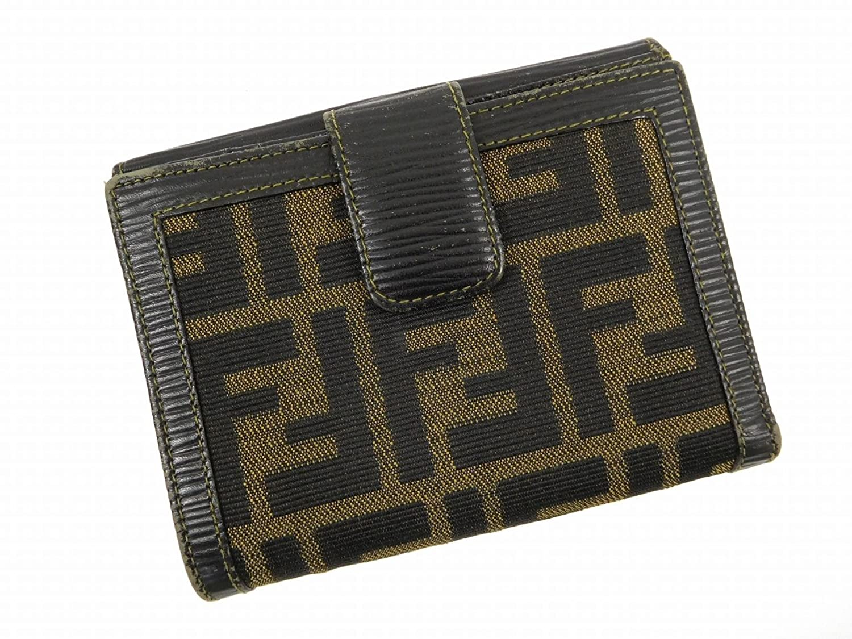 [フェンディ] FENDI 二つ折り財布 ズッカ キャンバス×レザー X13777 中古 B01N2UOC86