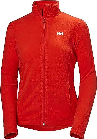 Easy Stretch Lightweight Breathable Helly Hansen Womens Daybreaker Warm Fleece Coat Jacket Cherry Tomato