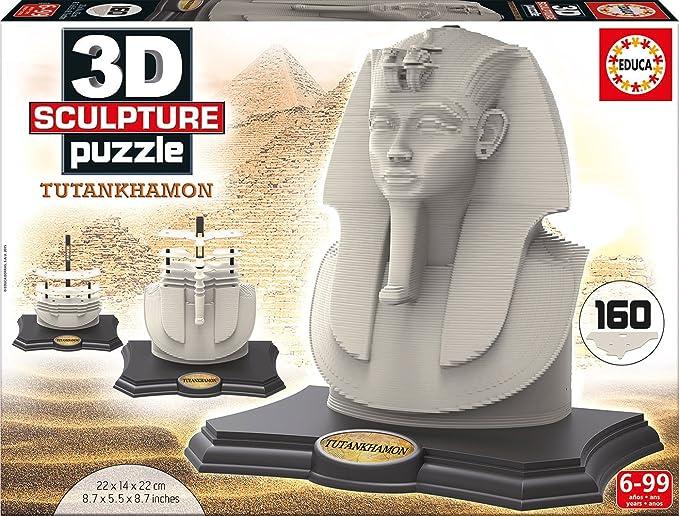 3D Sculpture - Puzzle con diseño Tutankhamon (Educa Borras 16503): Amazon.es: Juguetes y juegos