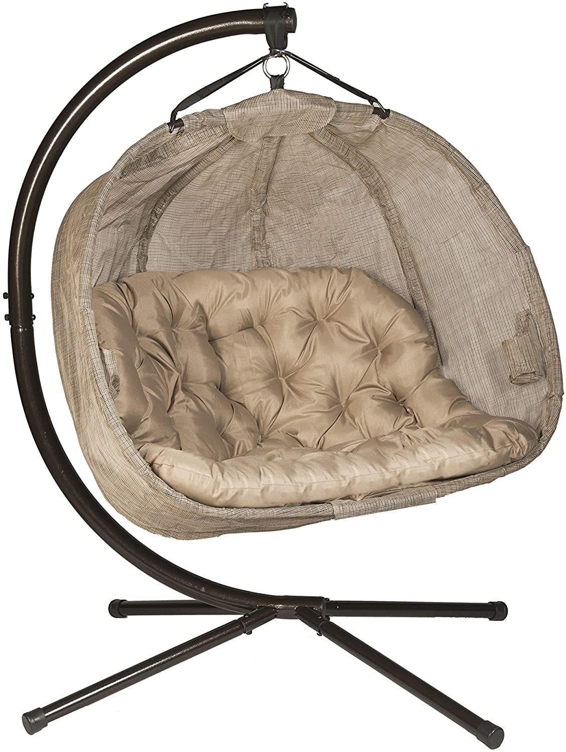 Bark Flower House FHPC100-BRK Hanging Pumpkin Loveseat Chair with Stand