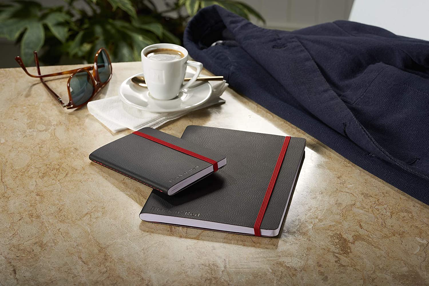 144 Page 1 Notebook Ruled and Numbered Notebook Oxford Black n Red A5 Soft Cover Casebound Business Journal
