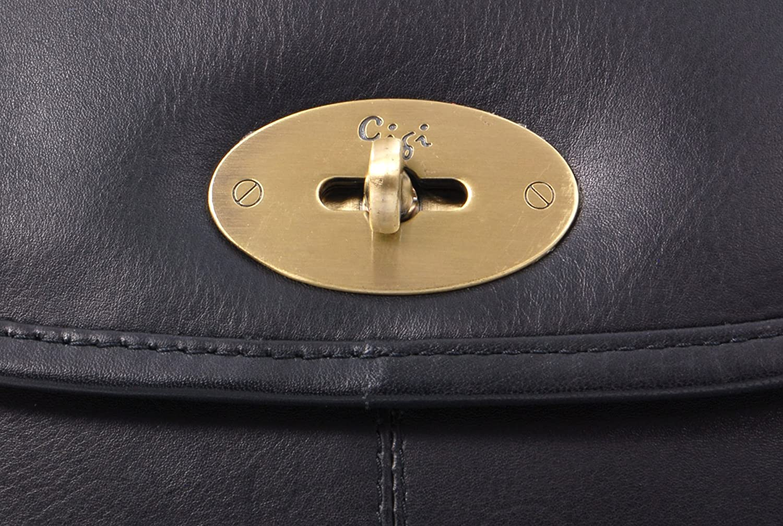 Gigi - Women's Leather Saddle Bag - Shoulder/Cross Body Handbag with Long Adjustable Strap - OTHELLO 8775 Black