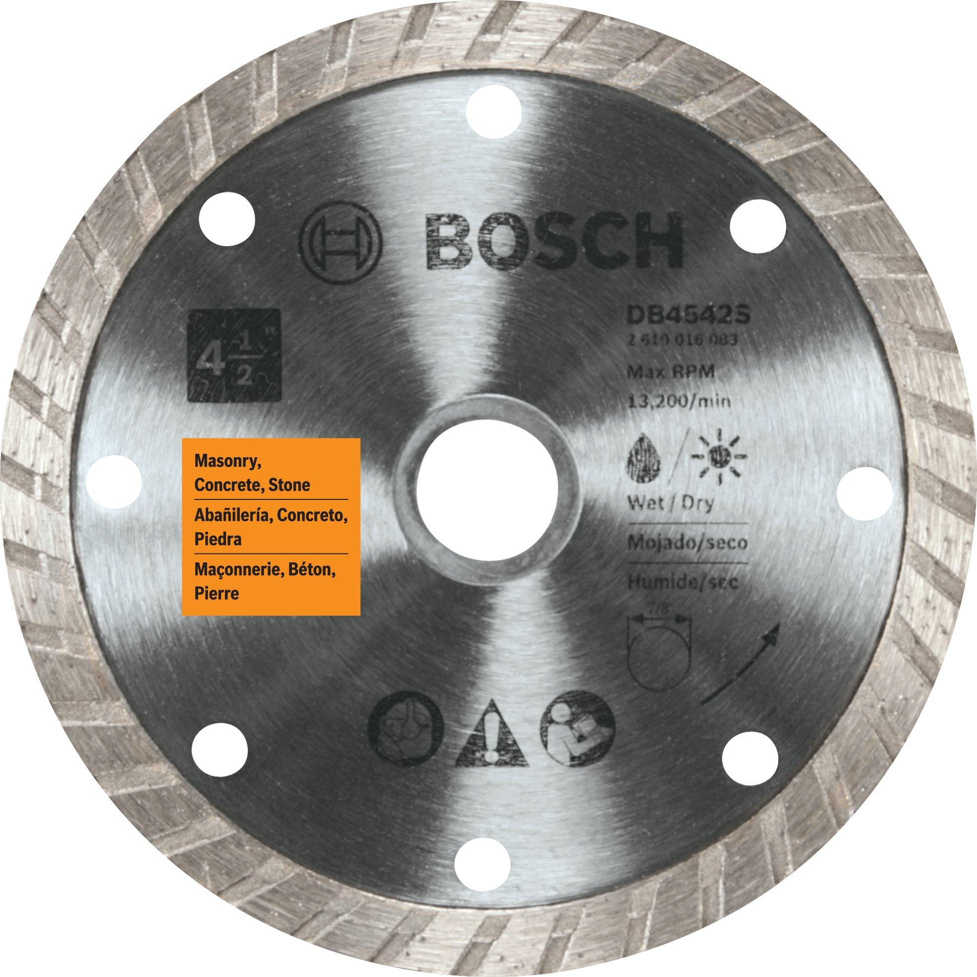 Disco de Diamante BOSCH DB4542S con borde turbo de 4-1/2 pulg.