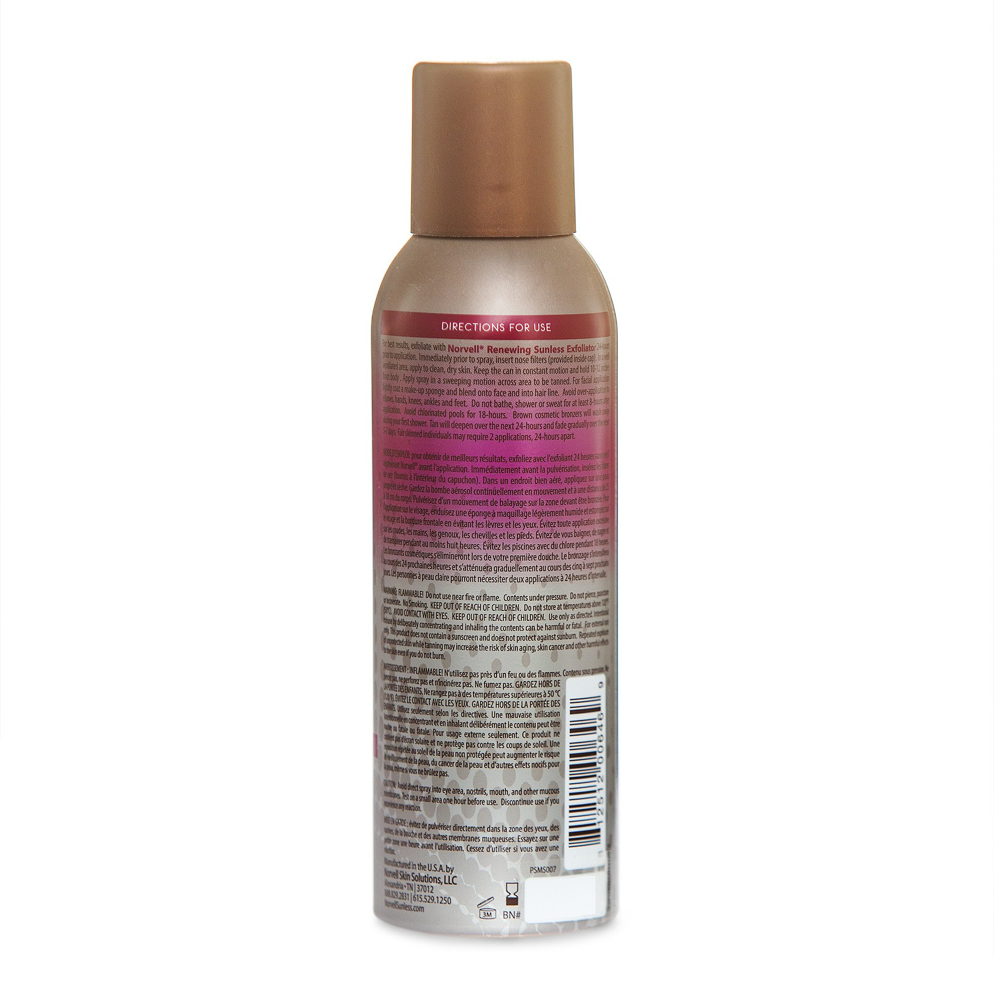 Norvell Professional Sunless Self-Tanning Mist - Airbrush Spray Solution with Bronzer for Instant Sun Kissed Glow, 7 fl.oz. by Norvell (Image #2)