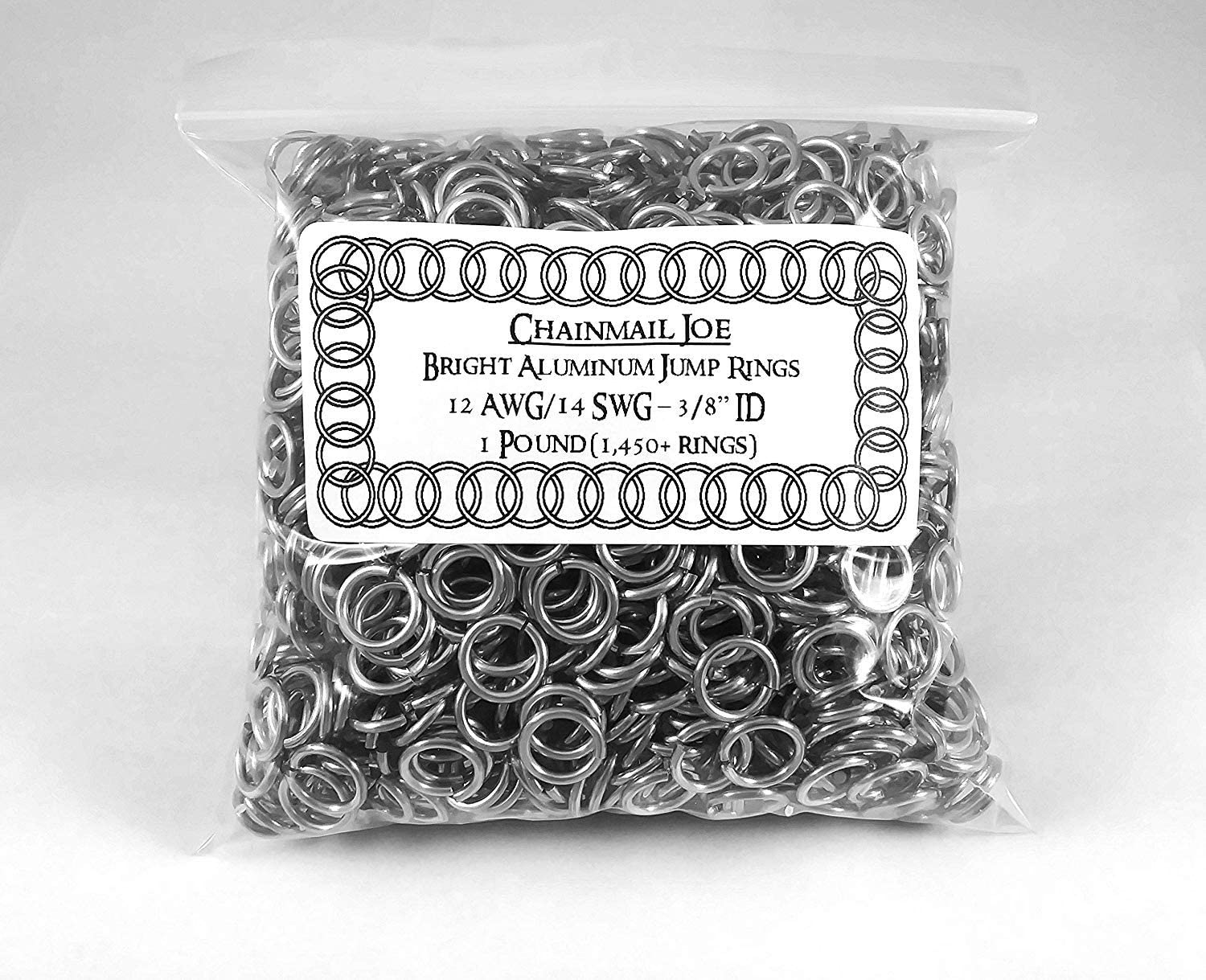 5200+ Rings! 1 Pound Bright Aluminum Chainmail Jump Rings 18G 5//16 ID