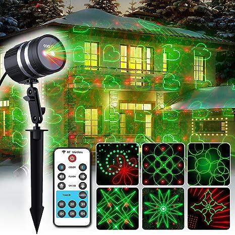coowoo Navidad iluminación LED Proyector para interior y exterior ...