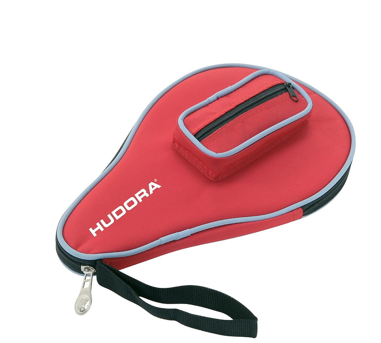 Hudora 76280 bolsa para raquetas de tenis de mesa - bolsas para raquetas de tenis de mesa (Negro, Rojo, Monótono, Cremallera) Hudora Table Tennis Table Hudora_76277