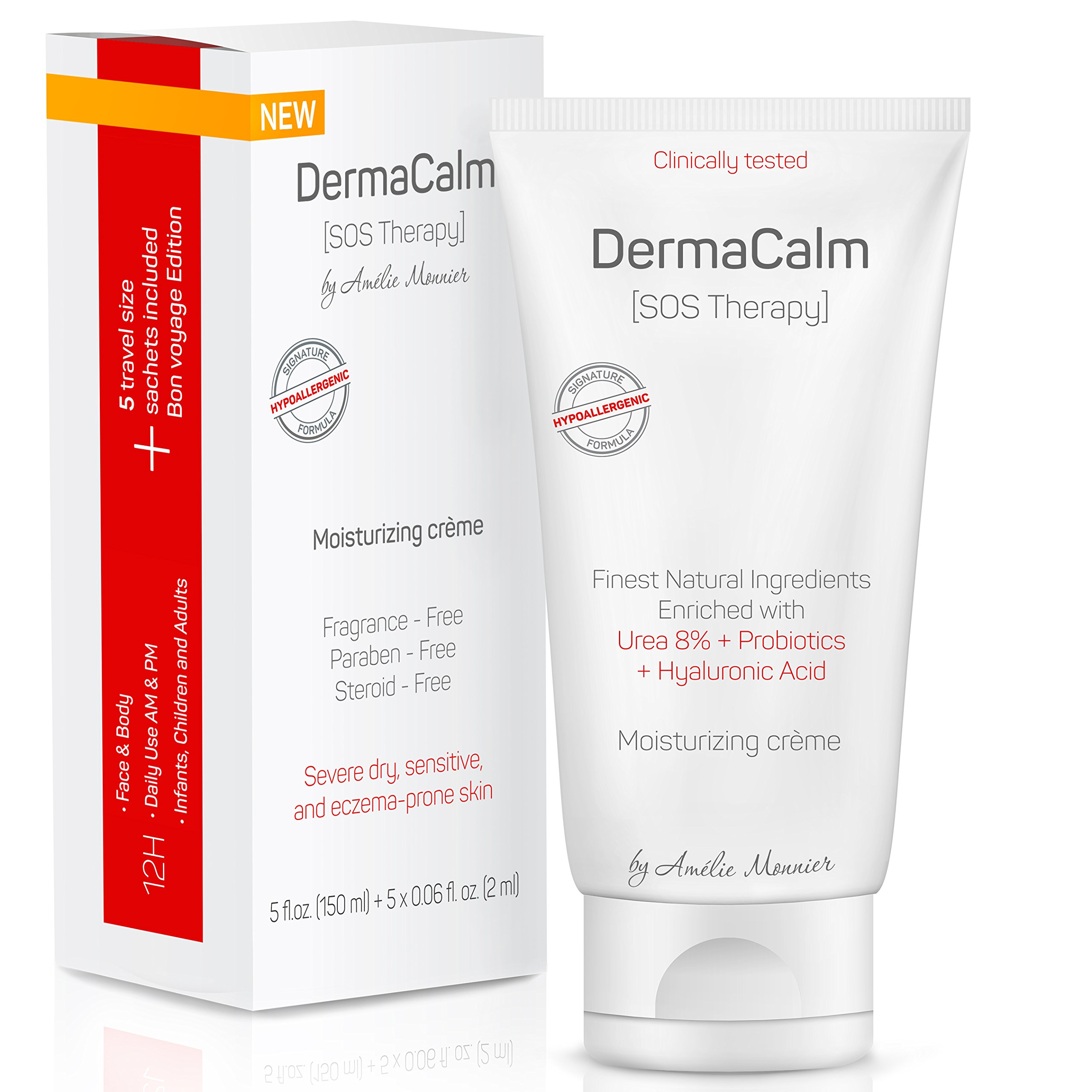 Clinically Tested Cream for Eczema Treatment, Dermatitis and Rashes - Urea 8%, Probiotics w/Best Natural Ingredients - Face & Body Moisturizer - Repairs Severely Dry, Itchy, Irritated Skin. Lotion
