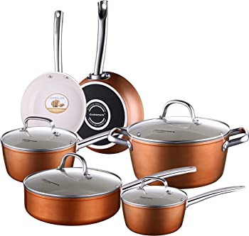 COOKSMARK Oven Safe Ceramic Cookware Set