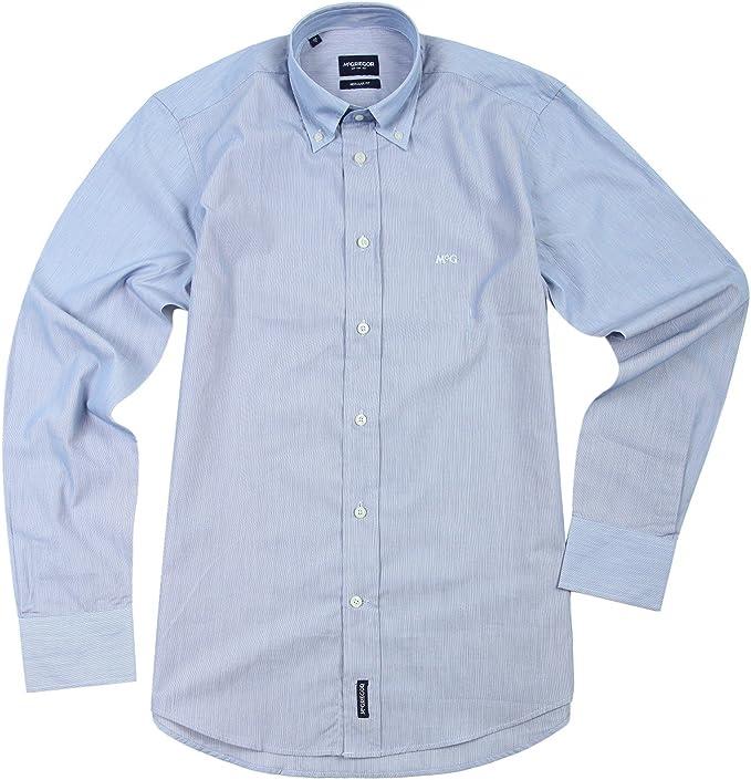 Mc Gregor Camisa Manga Larga Azul Oscuro de color blanco mc880 – 900 Dunkelblau Weiß 52: Amazon.es: Ropa y accesorios