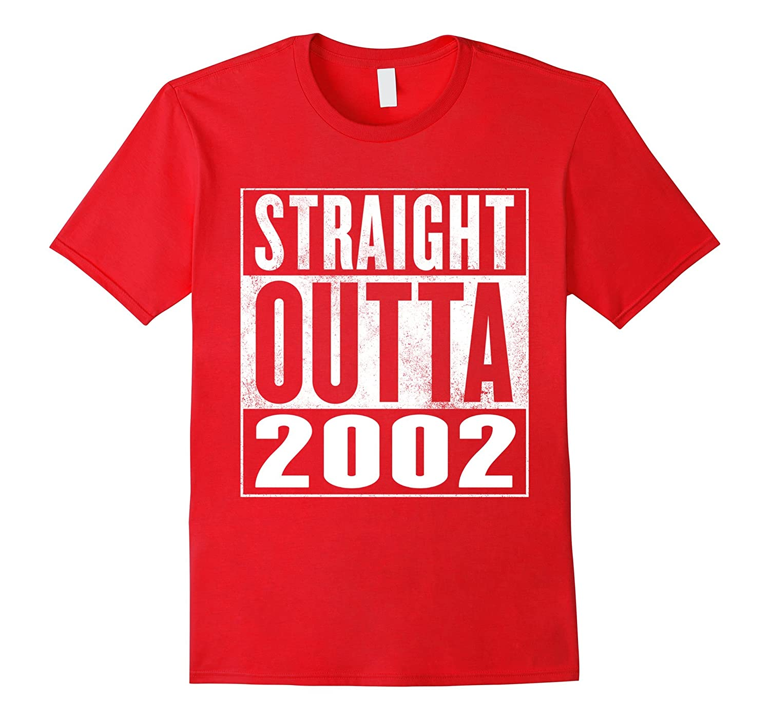 14th Birthday Gift T-Shirt - Straight Outta 2002 Shirt-FL