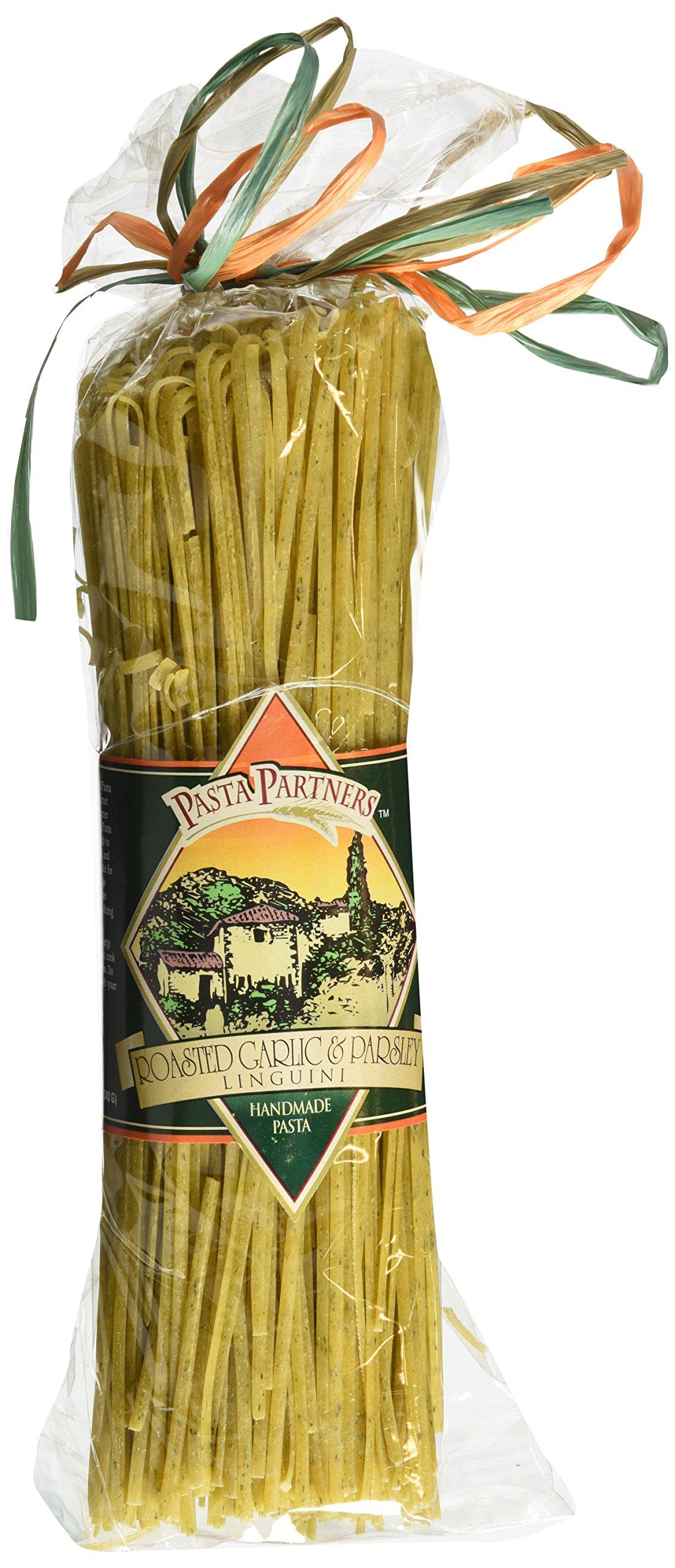 Pasta Partners Roasted Garlic Parsley Linguini (No Oil), 12 Ounce