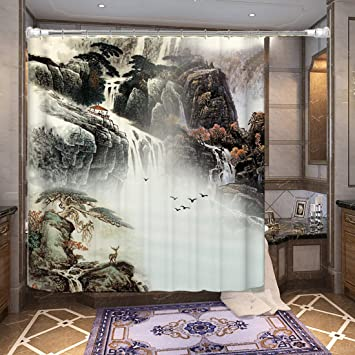 Amazon MDRWBathroom Chinese Wind Painting Waterproof Mildew Best Bathrooms Partitions Painting