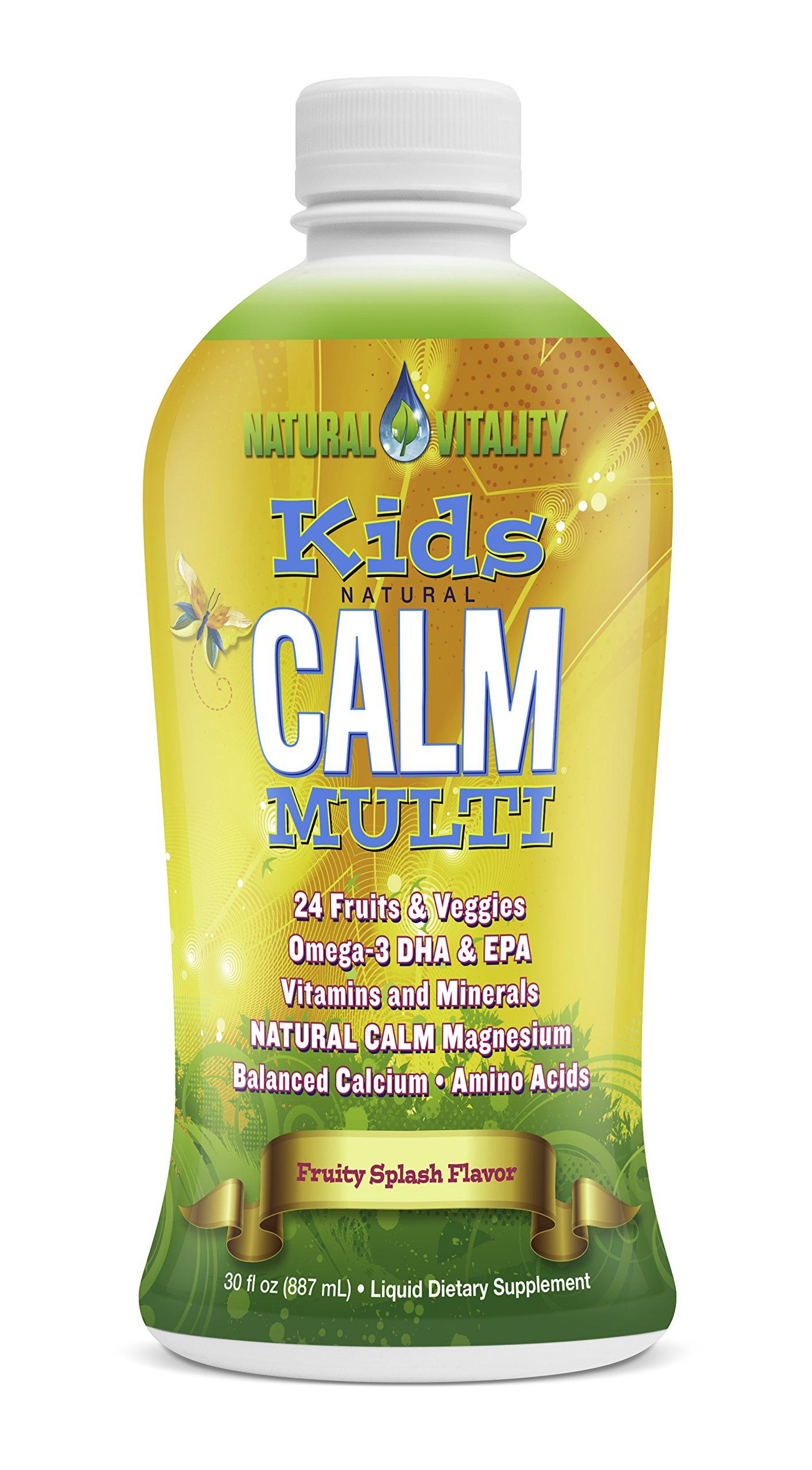 Natural Vitality Kids Calm Multi (Organic Fruity Splash Flavor, 30oz)