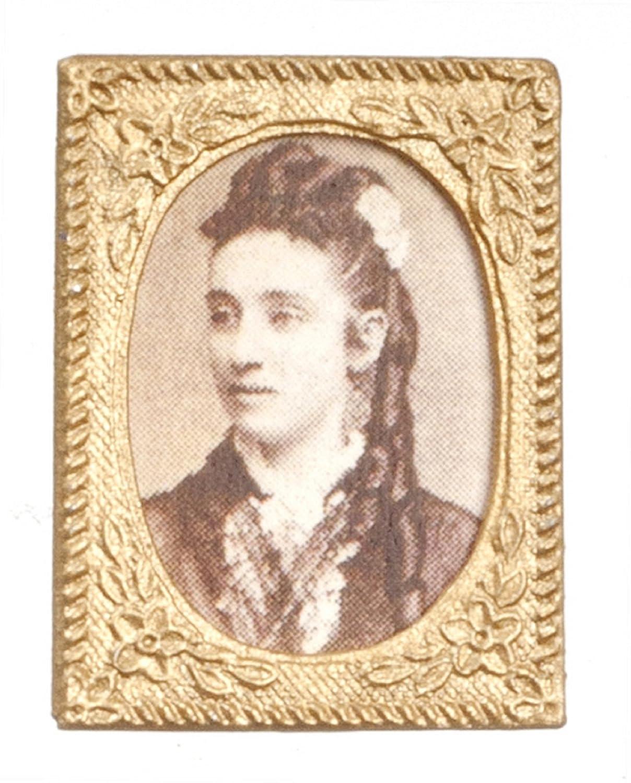 Dollhouse Miniature 1:12 Scale Victorian Lady Portrait Tin0113 by Aztec Imports, Inc.