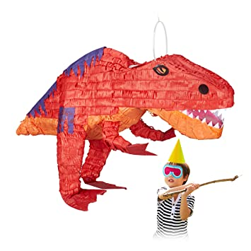 Relaxdays Piñata Dinosaurio sin Relleno, Decoración ...