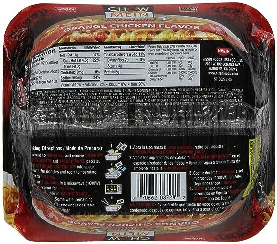 Amazon.com : Nissin Chow Mein Q&E Orange Chicken, 4-Ounce ...