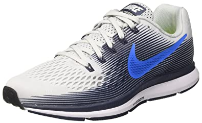 09038ce8b4569 Nike Men s s Air Zoom Pegasus 34 Running Shoes White Blue  Amazon.co ...