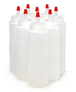Bastex botellas de plástico para apretar, 8 onzas, paquete de 8 ...