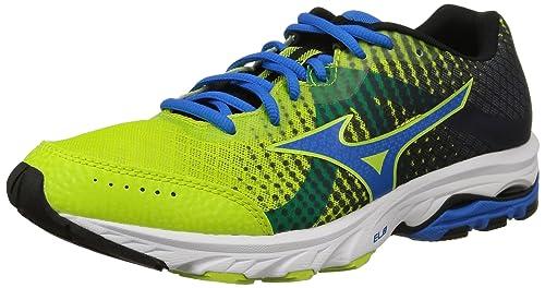 Mizuno Wave Elevation - Zapatos para Mujer, Color White/Electric/Green, Talla 41