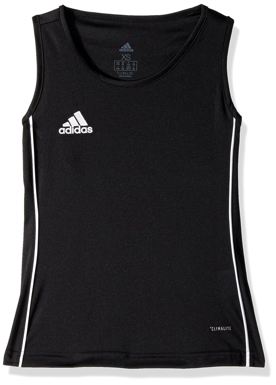 AdidasガールズサッカーCore 18タンク B072QBVHJG Medium|ブラック/ホワイト ブラック/ホワイト Medium