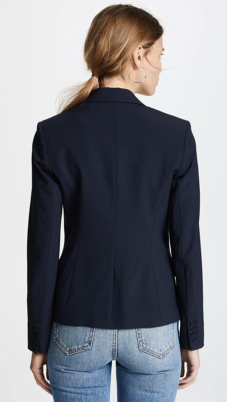 6 Theory Womens Gabe Single Button Blazer deep Navy