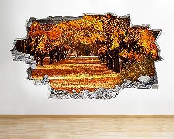 tekkdesigns A223 Herbst Bäume Leave orange Wand Aufkleber 3D Poster ...