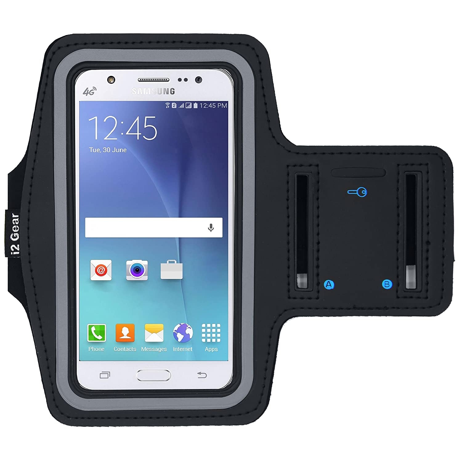new style 5a019 17b5b i2 Gear Armband Cell Phone Holder for Running - Arm Band Workout Phone  Holder for Samsung Galaxy J3 Achieve, Emerge, Pro, Eclipse, V, Prime and  Luna ...