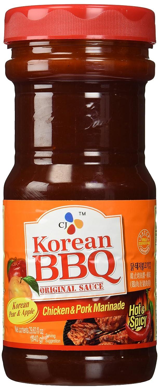 Amazon Com Cj Korean Bbq Original Sauce Chicken Pork Marinade 29 63 Ounce Pack Of 1 Grocery Gourmet Food