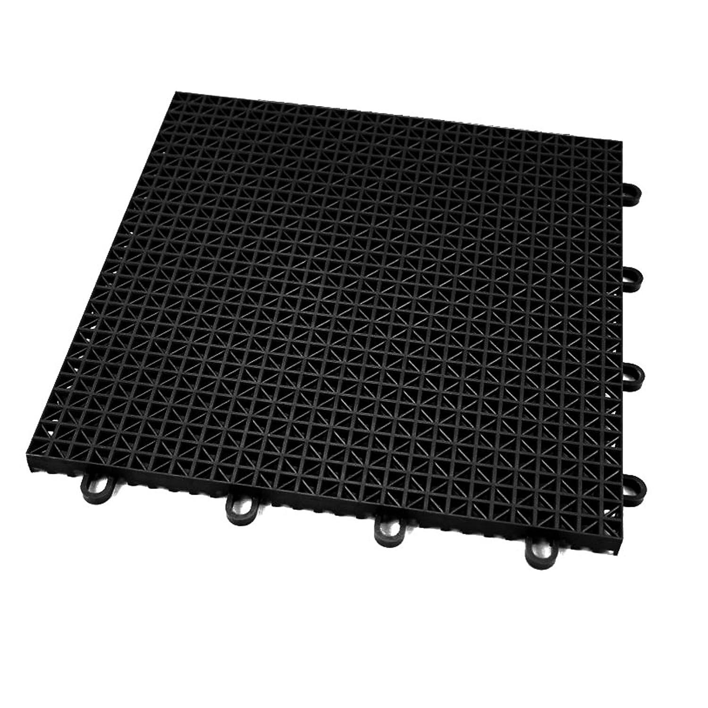 IncstoresアウトドアスポーツタイルBasketball Courtフローリング 100 Tiles (10x10 Area) ブラック(Midnight Black) B079YVK1HP