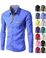 LeNG Slim Mens Formal Business Shirts Casual Slim Long Sleeve Dresse Shirts Camisa Masculina Casual Shirts Asian Size M-4XL Cool