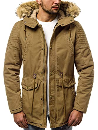 5d9832d55b5b OZONEE Herren Winterjacke Parka Jacke Kapuzenjacke Wärmejacke Wintermantel  Coat Wärmemantel Warm Modern Camouflage Täglichen JS 5810  Amazon.de   Bekleidung