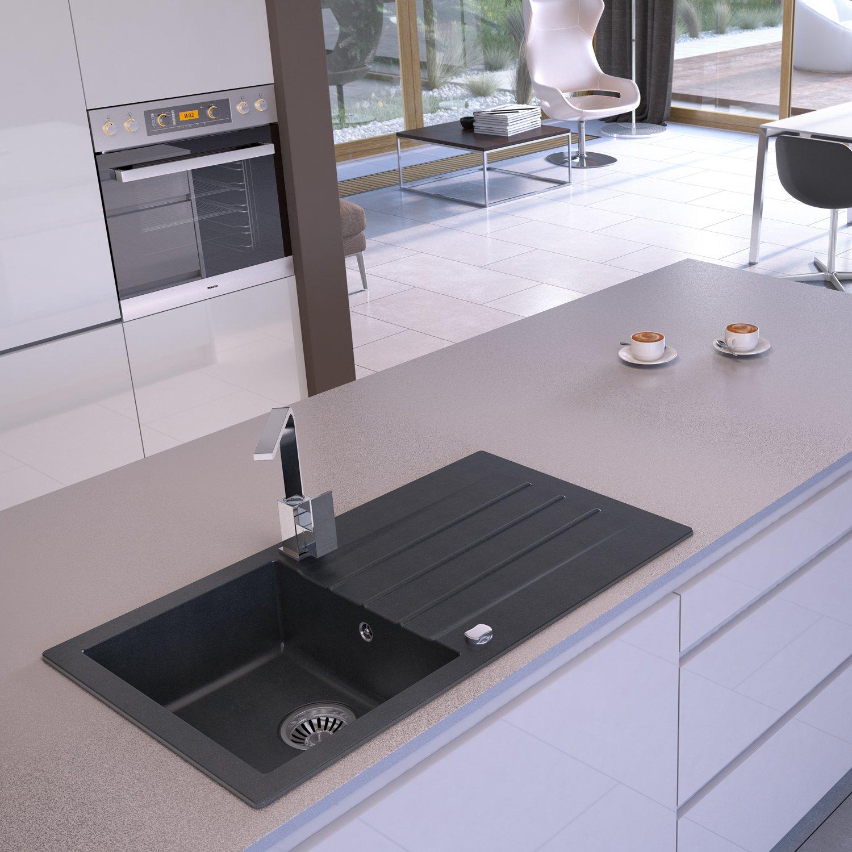 Axigran Granitspüle Mojito 100 Küchenspüle Einbauspüle Spülbecken ...