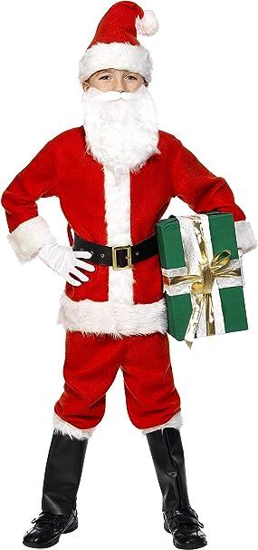 Amazon.com: Smiffy s – Disfraz de Papá Noel los niños ...