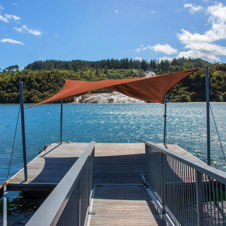 BB Sport Sun Shade Sail 5m x 7m Cappuccino Canopy Sunscreen Awning UV Block Sail HDPE Garden Patio PE Rope