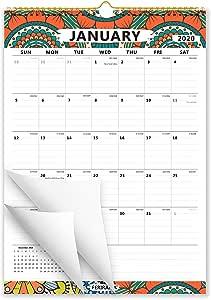 Ferirama- Calendario de pared año 2020, diseño mensual con anillas en espiral, bloques con renglones, colorido para la decoración del hogar y la oficina, 30 x 43 cm: Amazon.es: Oficina y papelería