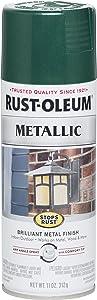 Rust-Oleum 7252830 Stops Rust Metallic Spray Paint, 11 oz, Racing Green