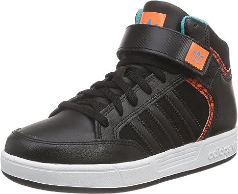 adidas Varial Mid J J, Sneakers Hautes Mixte Enfant, Noir