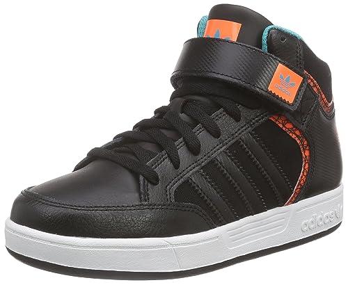 adidas Varial Mid J, Unisex Children s Trainer, Black (Core Black Ftwr White 901dd8af34d6